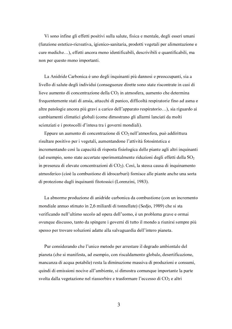 Anteprima della tesi: Analisi delle funzioni della vegetazione urbana. Un caso di studio: il Quartiere Savonarola a Padova, Pagina 3