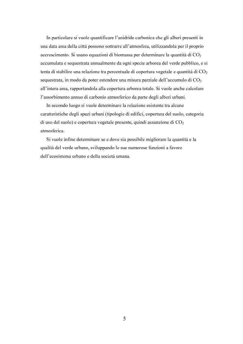 Anteprima della tesi: Analisi delle funzioni della vegetazione urbana. Un caso di studio: il Quartiere Savonarola a Padova, Pagina 5