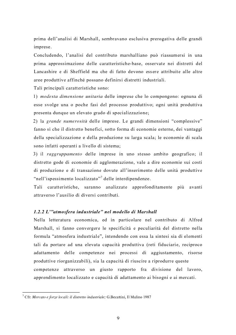 Anteprima della tesi: Il contributo dei distretti industriali nello sviluppo economico italiano. Il caso del distretto tessile di Prato, Pagina 12