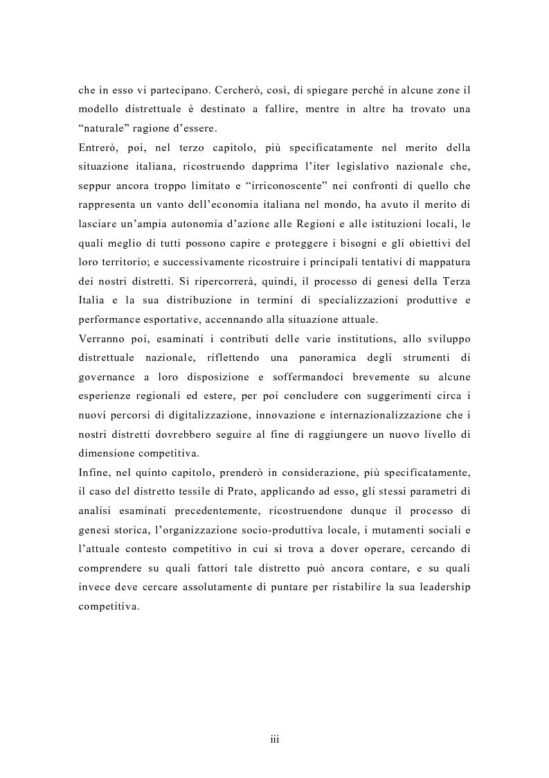 Anteprima della tesi: Il contributo dei distretti industriali nello sviluppo economico italiano. Il caso del distretto tessile di Prato, Pagina 3