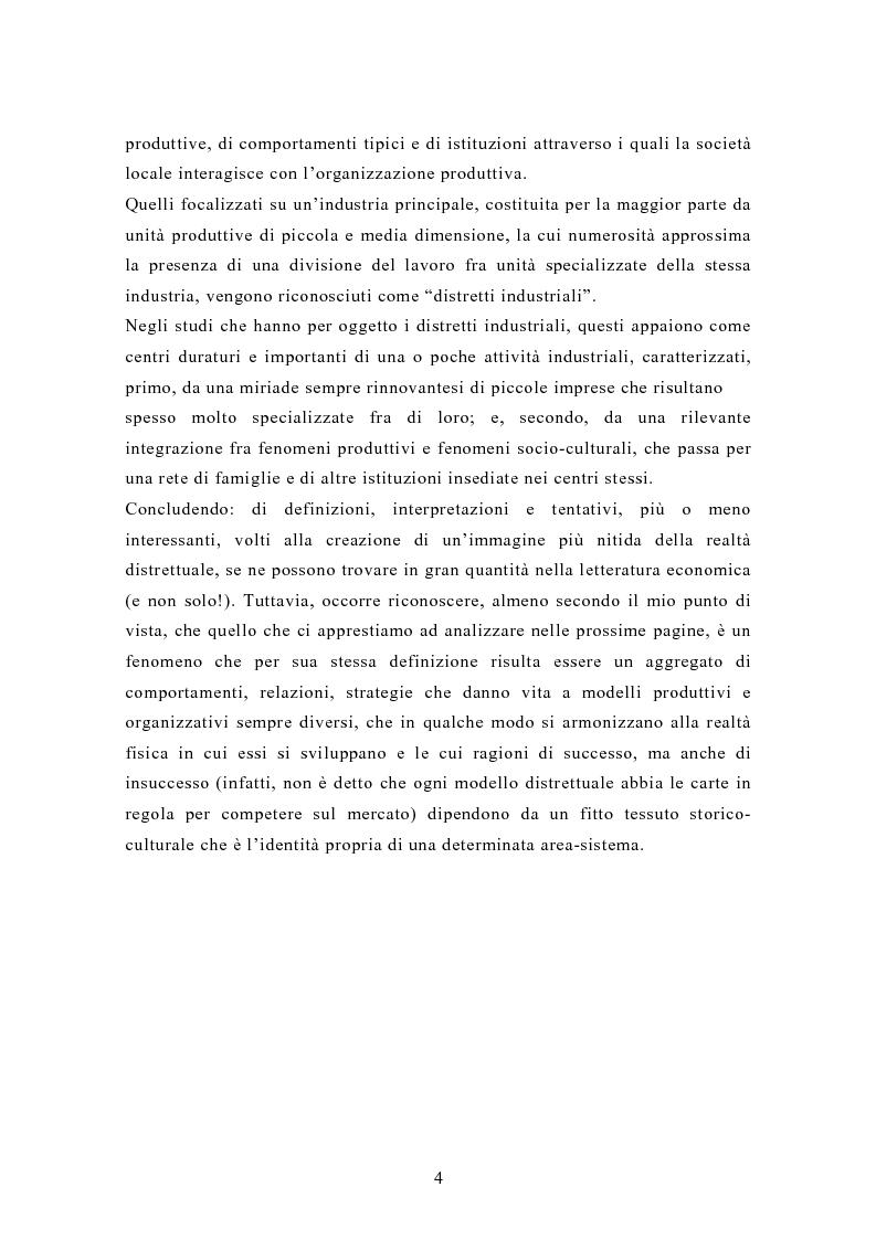 Anteprima della tesi: Il contributo dei distretti industriali nello sviluppo economico italiano. Il caso del distretto tessile di Prato, Pagina 7