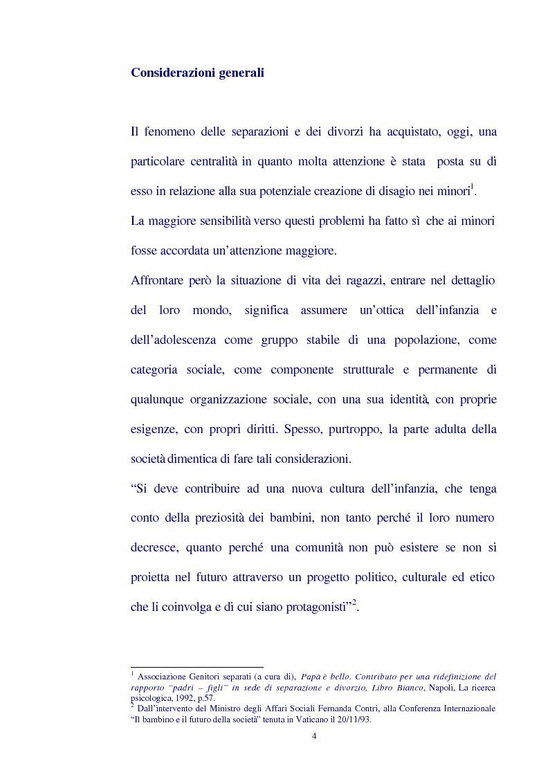 Orfani per legge: ricerca sui figli di genitori separati a Pescara - Tesi di Laurea