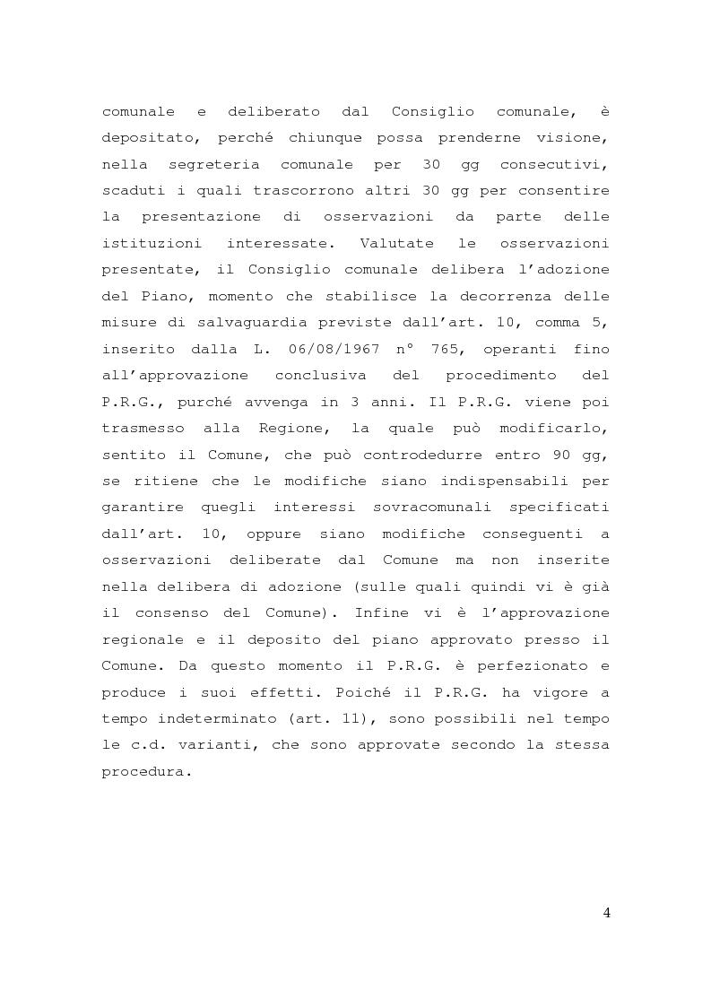 Anteprima della tesi: Piano regolatore generale, rilevanza delle osservazioni, impugnabilità, Pagina 2