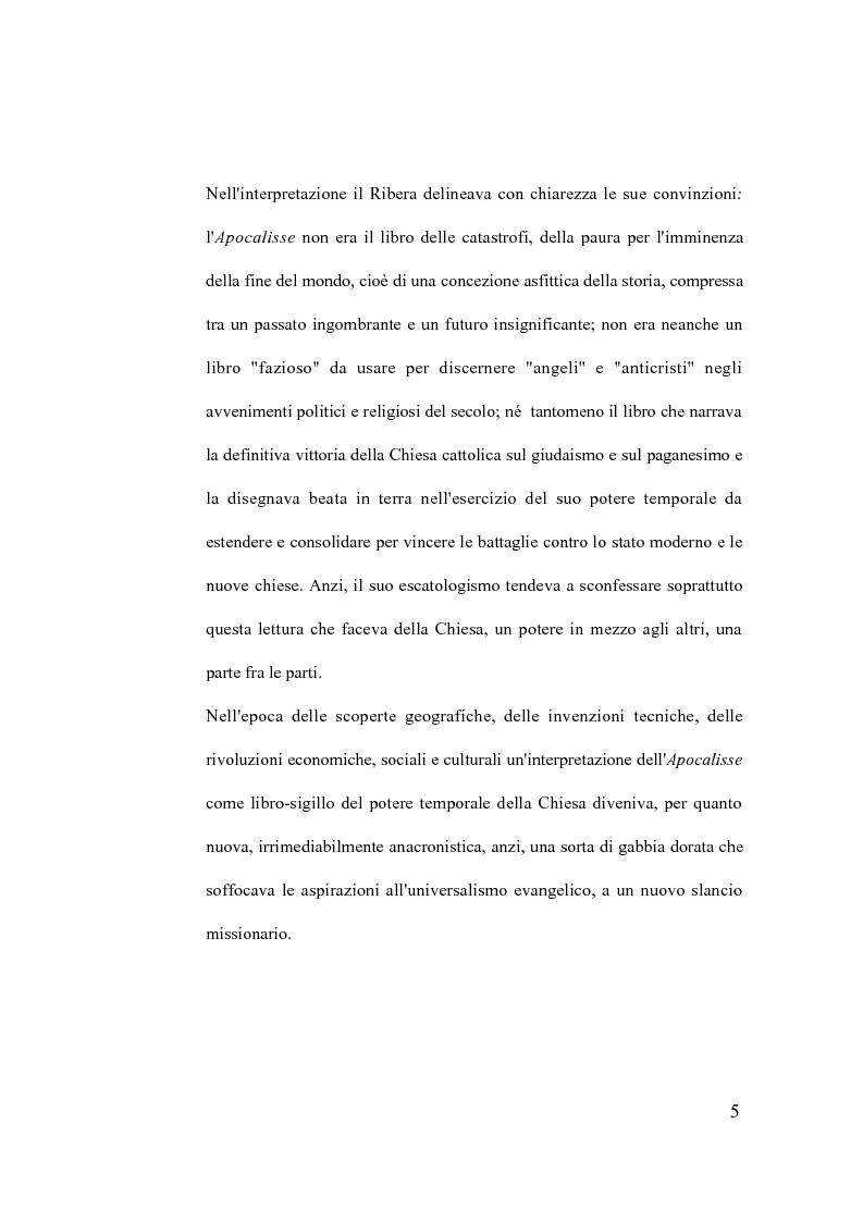 Anteprima della tesi: La verità della profezia. Francisco de Ribera (1537-1591) commentatore dell'Apocalisse a Salamanca, Pagina 5