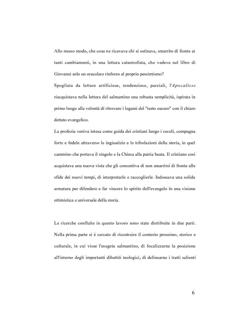 Anteprima della tesi: La verità della profezia. Francisco de Ribera (1537-1591) commentatore dell'Apocalisse a Salamanca, Pagina 6