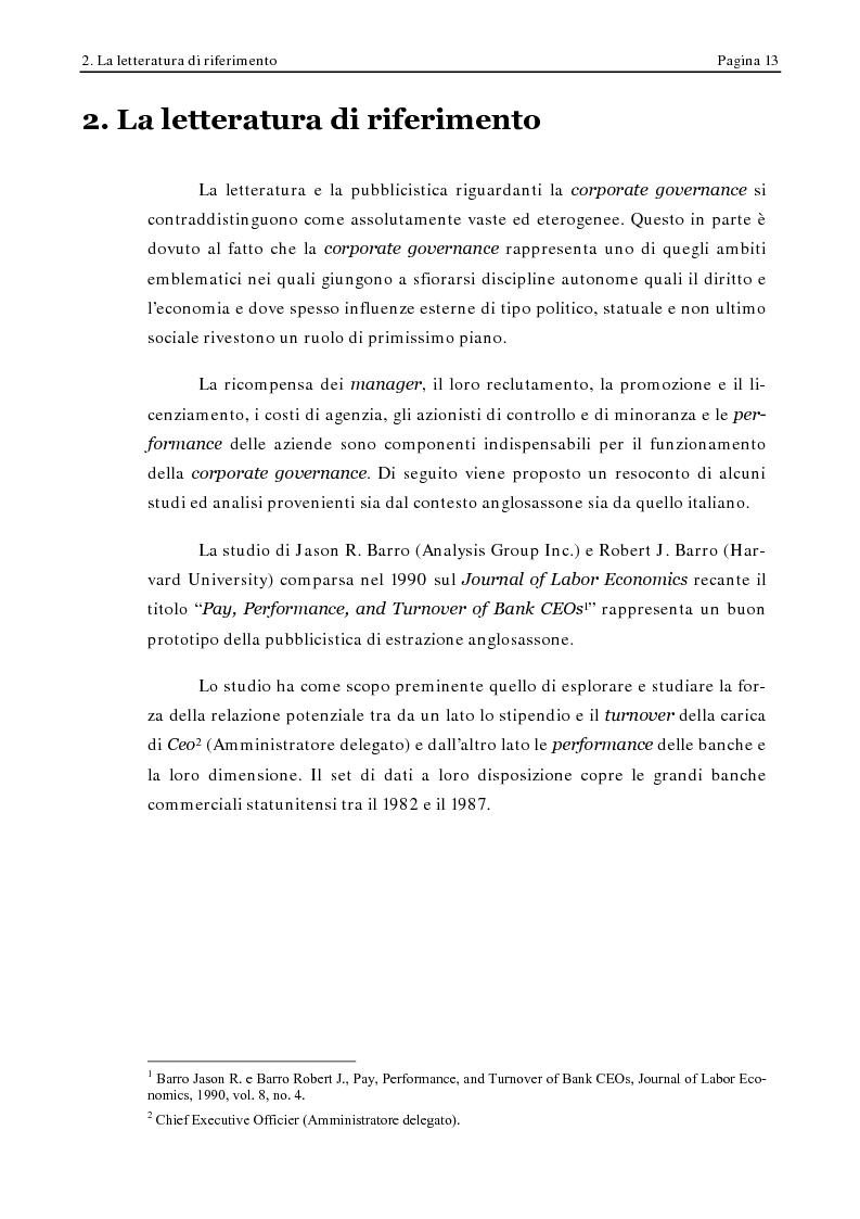 Anteprima della tesi: Corporate Governance e Performance Bancarie, Pagina 8