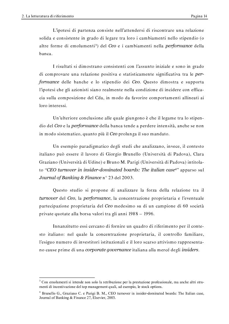 Anteprima della tesi: Corporate Governance e Performance Bancarie, Pagina 9