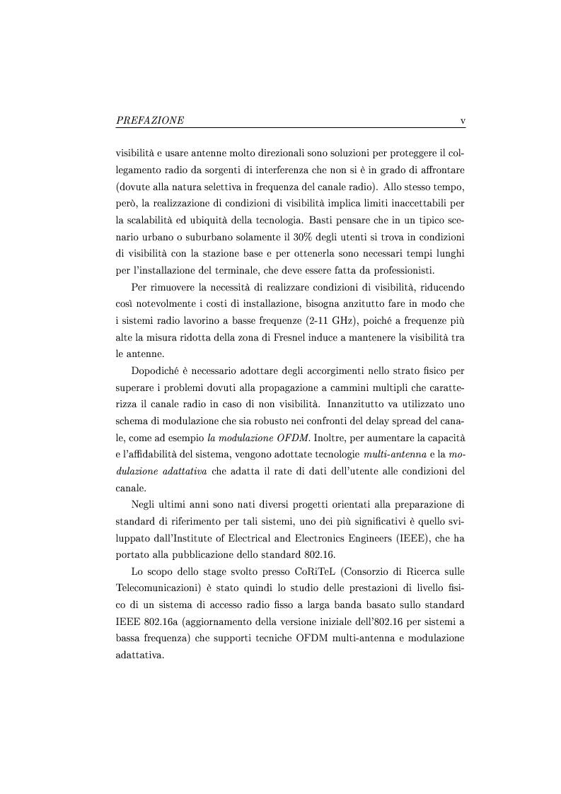 Anteprima della tesi: Analisi prestazionale di sistemi di accesso radio fisso a larga banda di nuova generazione operanti in condizioni di non visibilità, Pagina 2