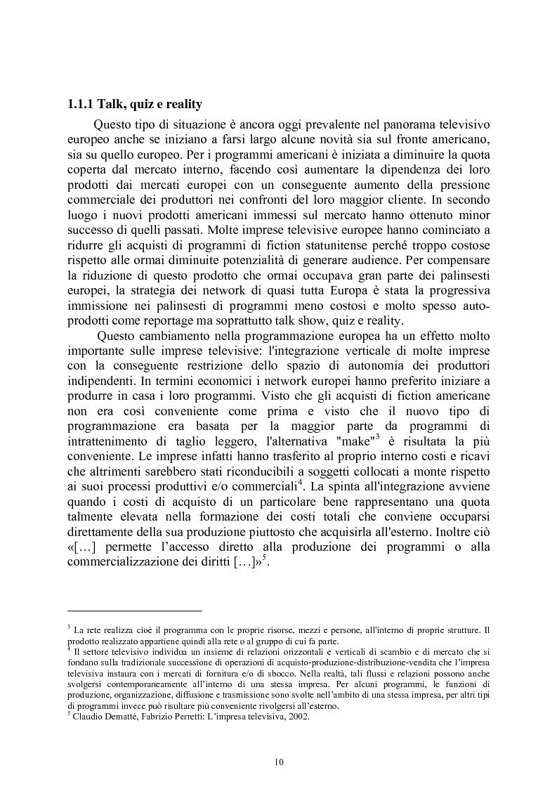 Anteprima della tesi: Le società di produzione televisive, Pagina 6