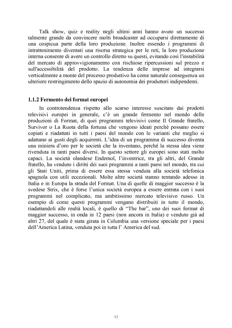 Anteprima della tesi: Le società di produzione televisive, Pagina 7