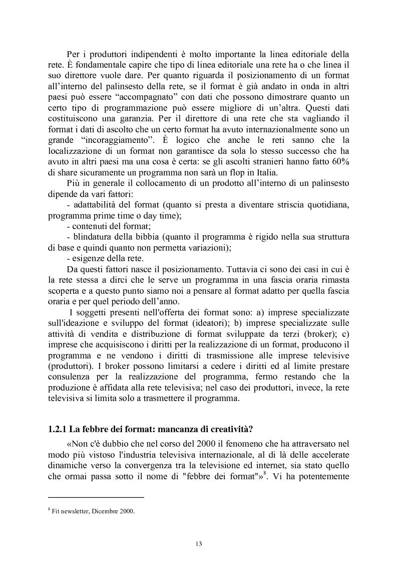 Anteprima della tesi: Le società di produzione televisive, Pagina 9