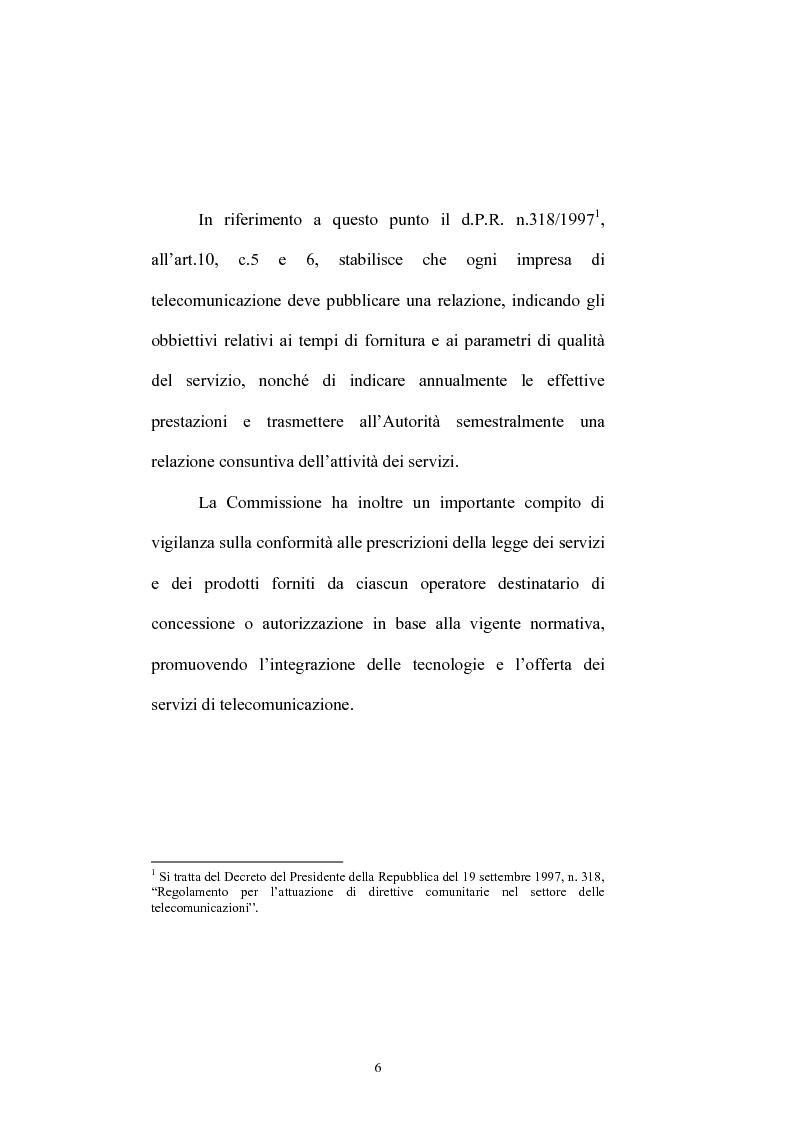 Anteprima della tesi: Le competenze dell'Autorità per le garanzie nelle comunicazioni in materia di accordi di interconnessione, Pagina 4