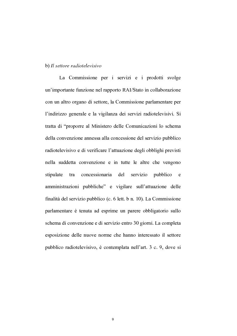 Anteprima della tesi: Le competenze dell'Autorità per le garanzie nelle comunicazioni in materia di accordi di interconnessione, Pagina 7