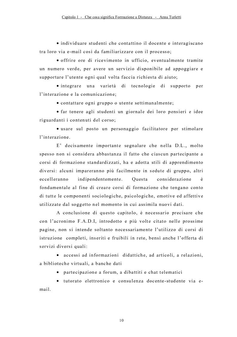 Anteprima della tesi: La formazione a distanza tramite Internet, Pagina 13