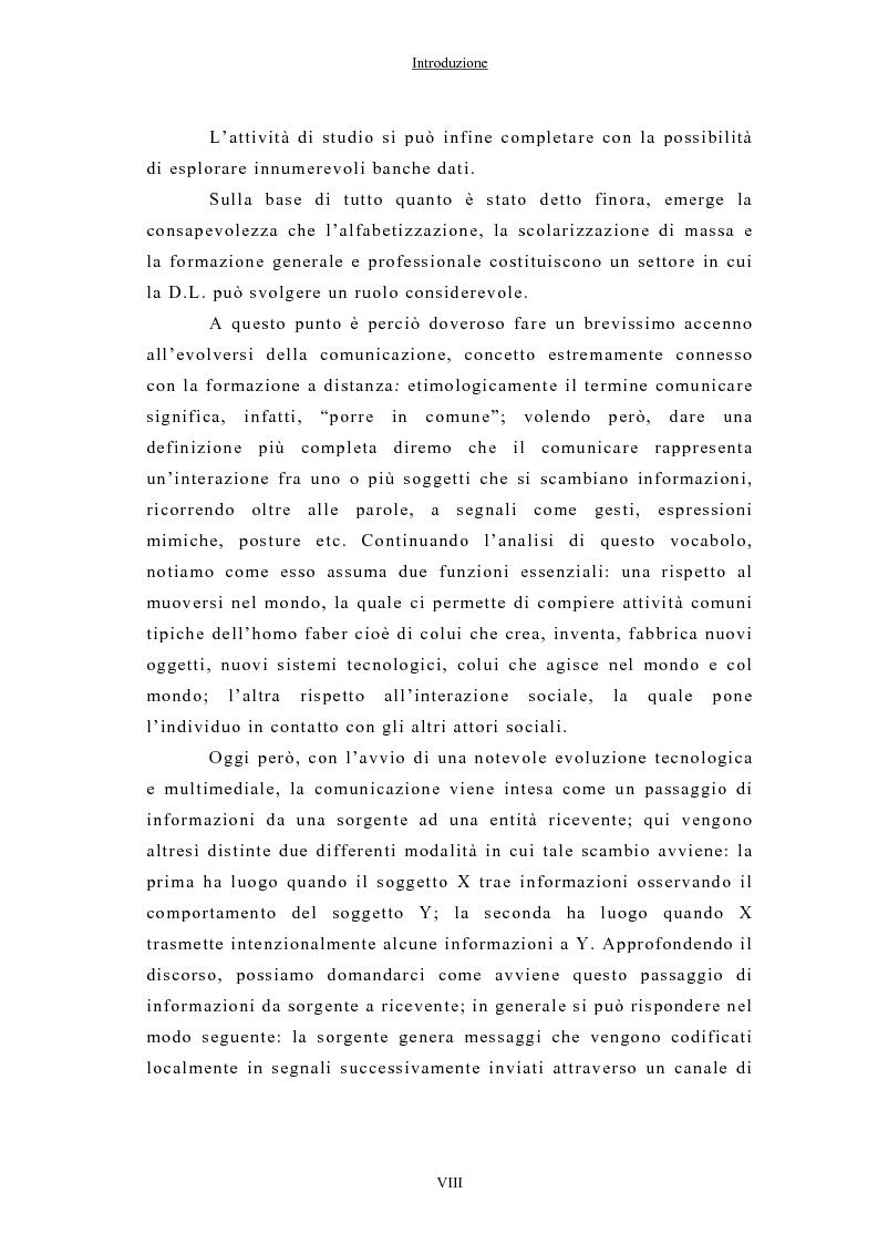 Anteprima della tesi: La formazione a distanza tramite Internet, Pagina 2