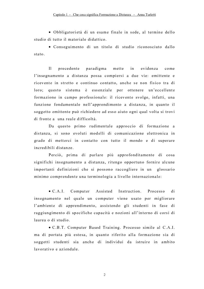 Anteprima della tesi: La formazione a distanza tramite Internet, Pagina 5