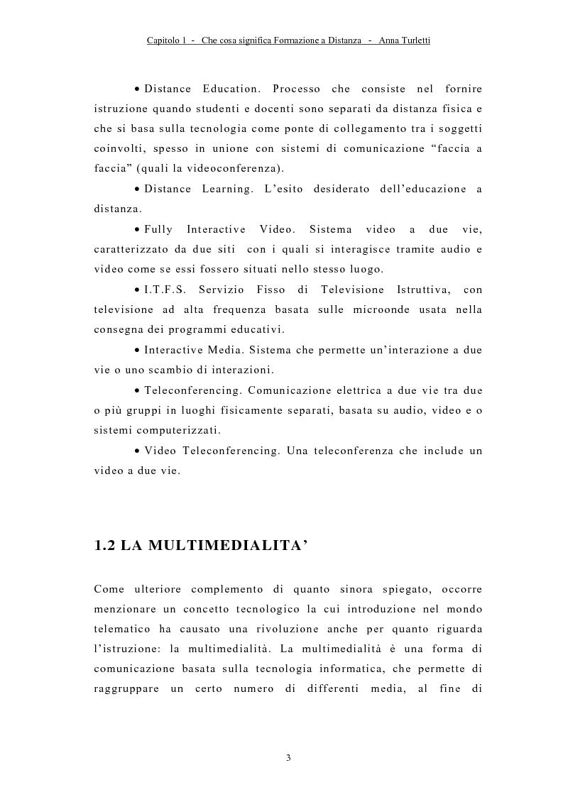 Anteprima della tesi: La formazione a distanza tramite Internet, Pagina 6