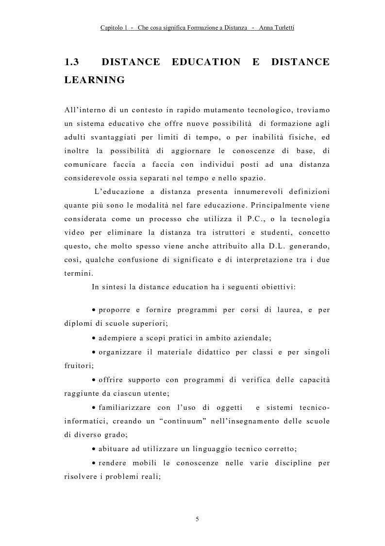 Anteprima della tesi: La formazione a distanza tramite Internet, Pagina 8