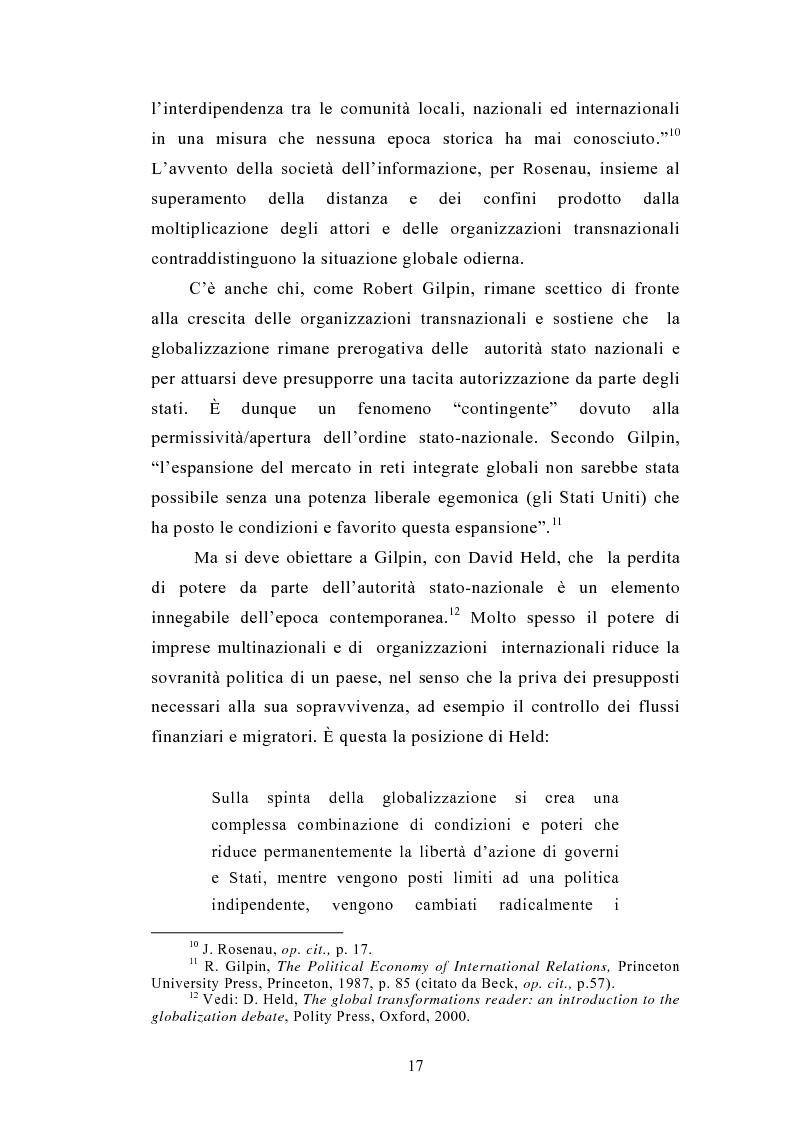 Anteprima della tesi: Il legame locale-globale: le Ong in Italia e nel Regno Unito, Pagina 14