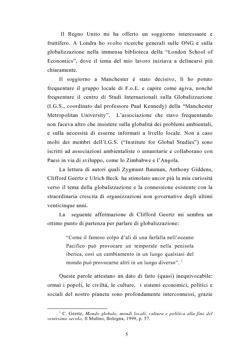 Anteprima della tesi: Il legame locale-globale: le Ong in Italia e nel Regno Unito, Pagina 2