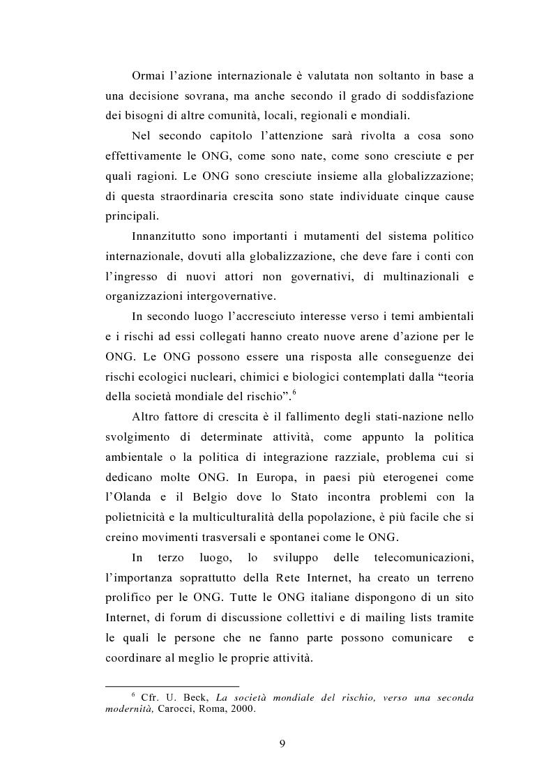 Anteprima della tesi: Il legame locale-globale: le Ong in Italia e nel Regno Unito, Pagina 6