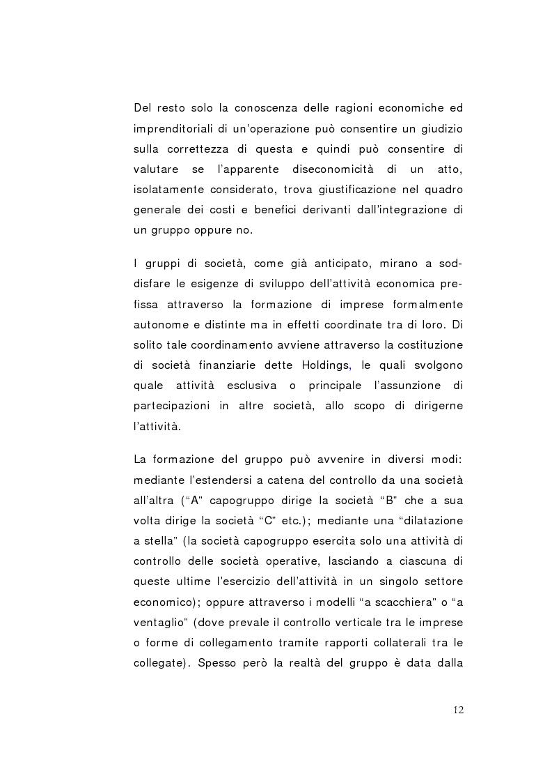 Anteprima della tesi: La direzione unitaria nel settore finanziario nei gruppi di imprese, Pagina 10