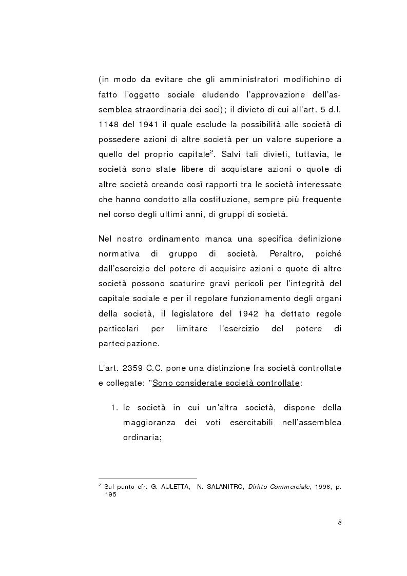 Anteprima della tesi: La direzione unitaria nel settore finanziario nei gruppi di imprese, Pagina 6