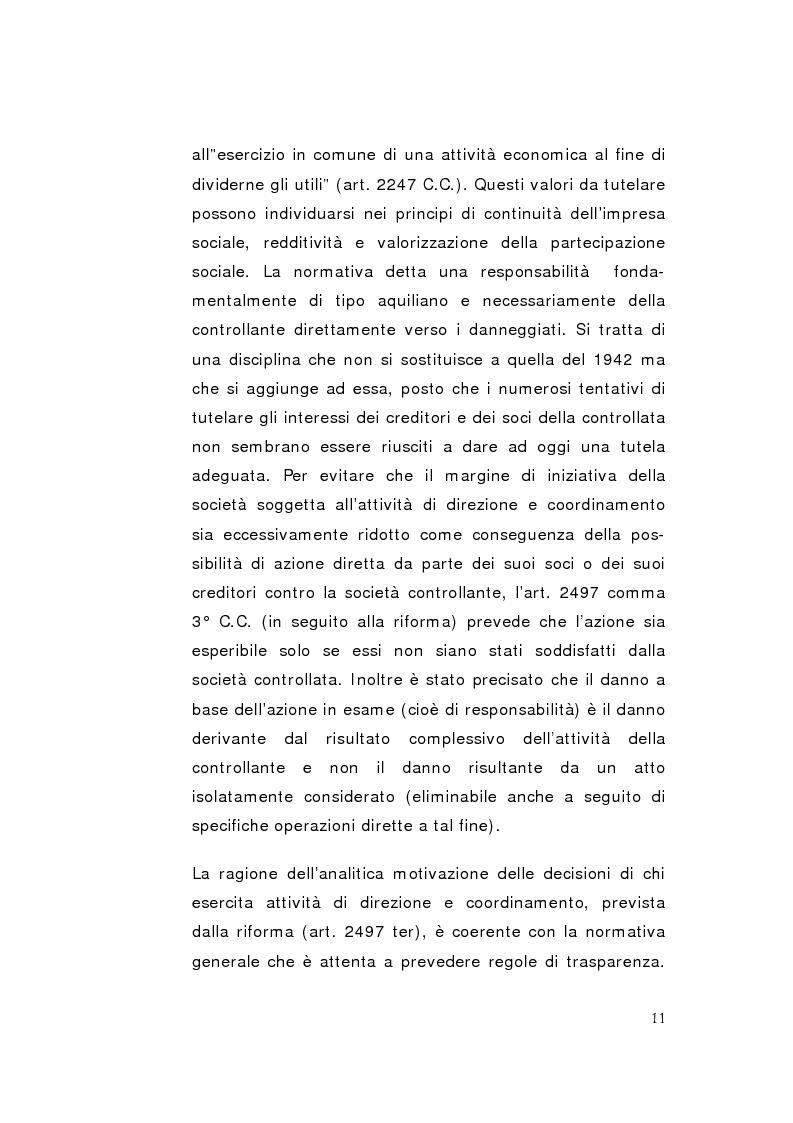 Anteprima della tesi: La direzione unitaria nel settore finanziario nei gruppi di imprese, Pagina 9