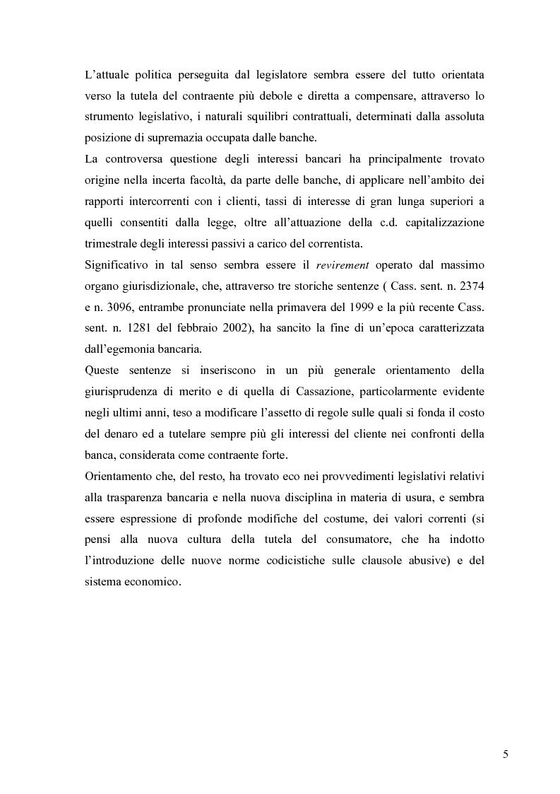 Anteprima della tesi: L'anatocismo bancario, Pagina 2