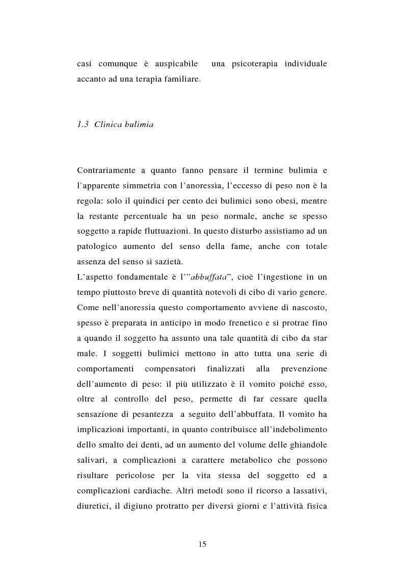 Anteprima della tesi: Pattern di attaccamento e disturbi del comportamento alimentare, Pagina 11