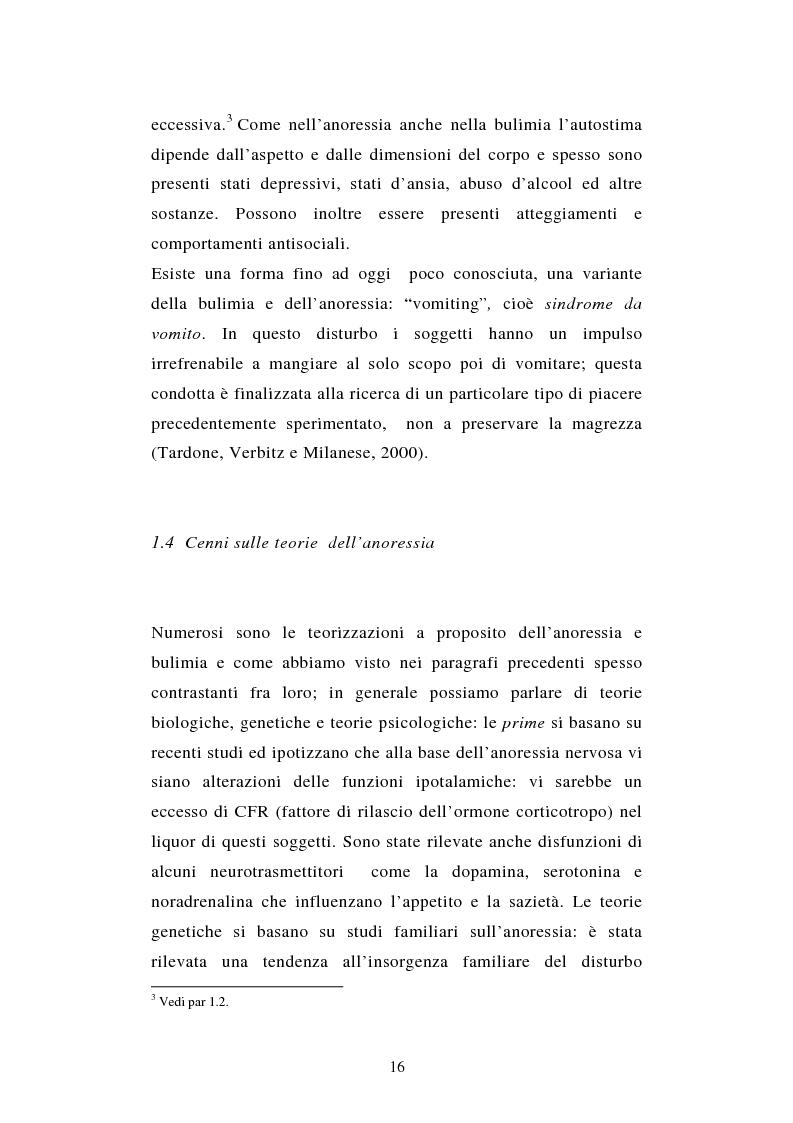 Anteprima della tesi: Pattern di attaccamento e disturbi del comportamento alimentare, Pagina 12