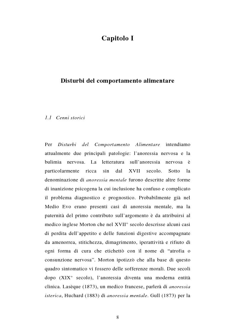 Anteprima della tesi: Pattern di attaccamento e disturbi del comportamento alimentare, Pagina 4