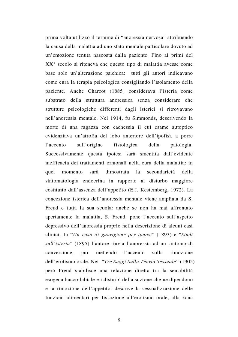 Anteprima della tesi: Pattern di attaccamento e disturbi del comportamento alimentare, Pagina 5