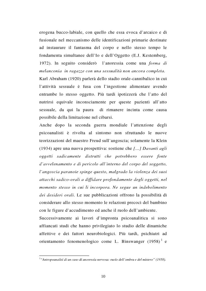 Anteprima della tesi: Pattern di attaccamento e disturbi del comportamento alimentare, Pagina 6