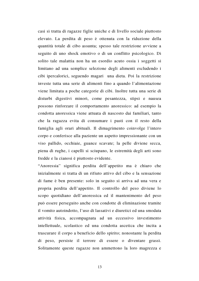 Anteprima della tesi: Pattern di attaccamento e disturbi del comportamento alimentare, Pagina 9