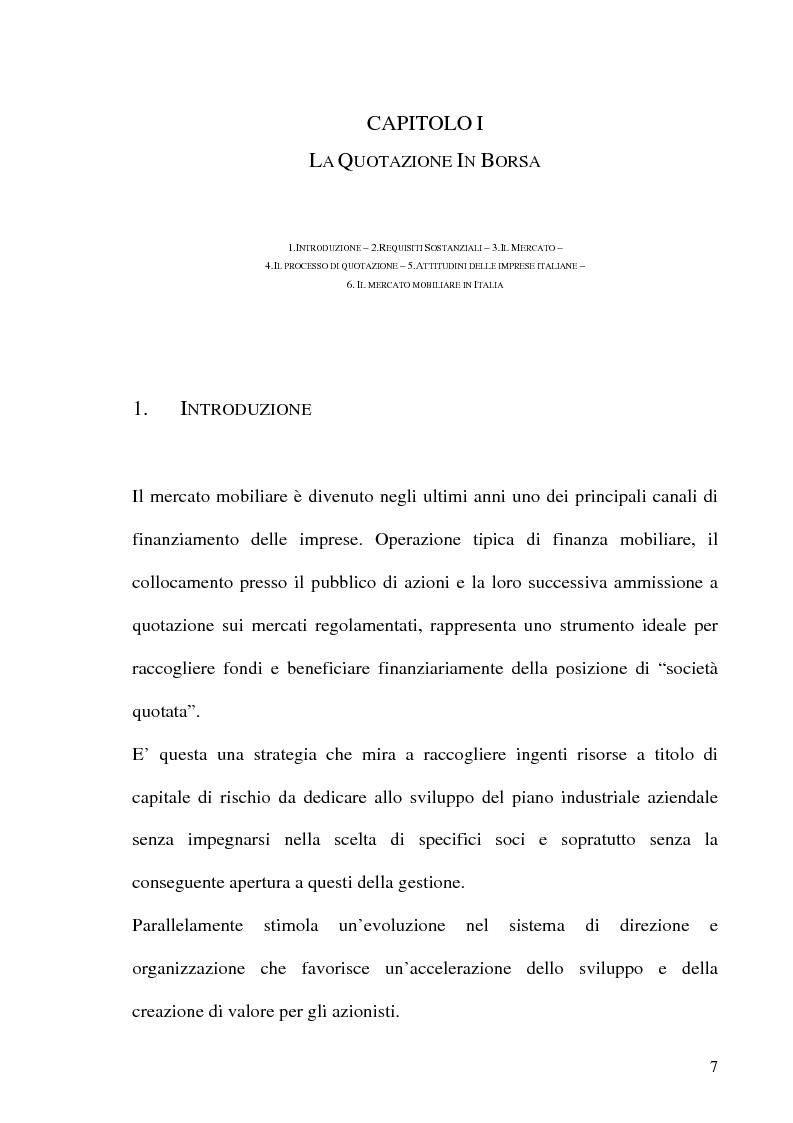 Anteprima della tesi: La Corporate Governance nelle aziende neoquotate - Un'analisi del caso italiano dal 1996 ad oggi, Pagina 4