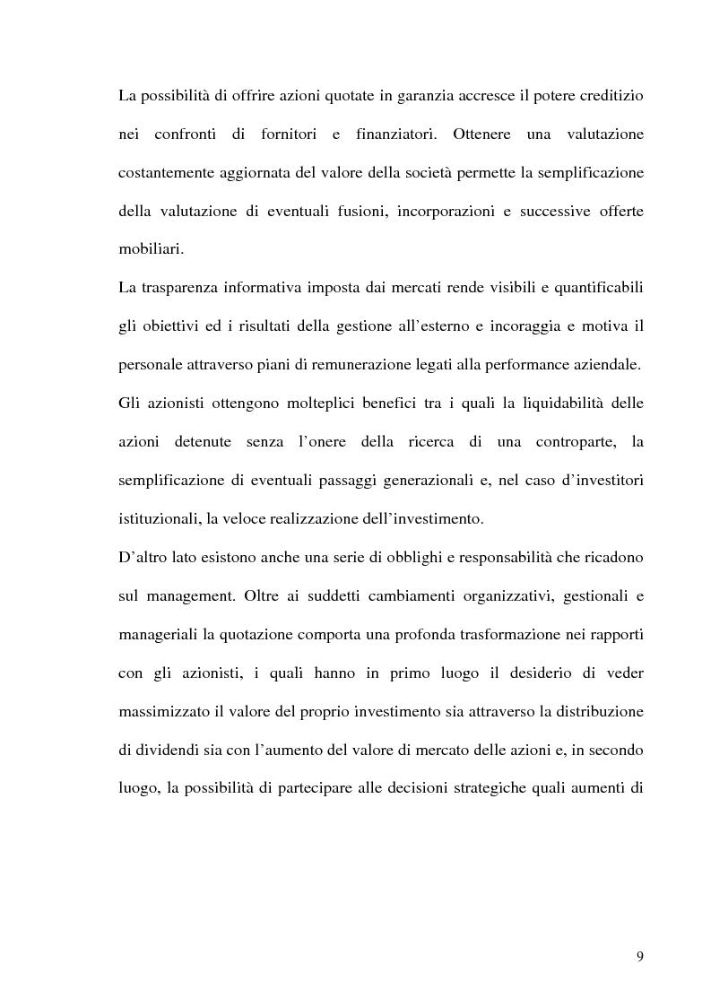 Anteprima della tesi: La Corporate Governance nelle aziende neoquotate - Un'analisi del caso italiano dal 1996 ad oggi, Pagina 6