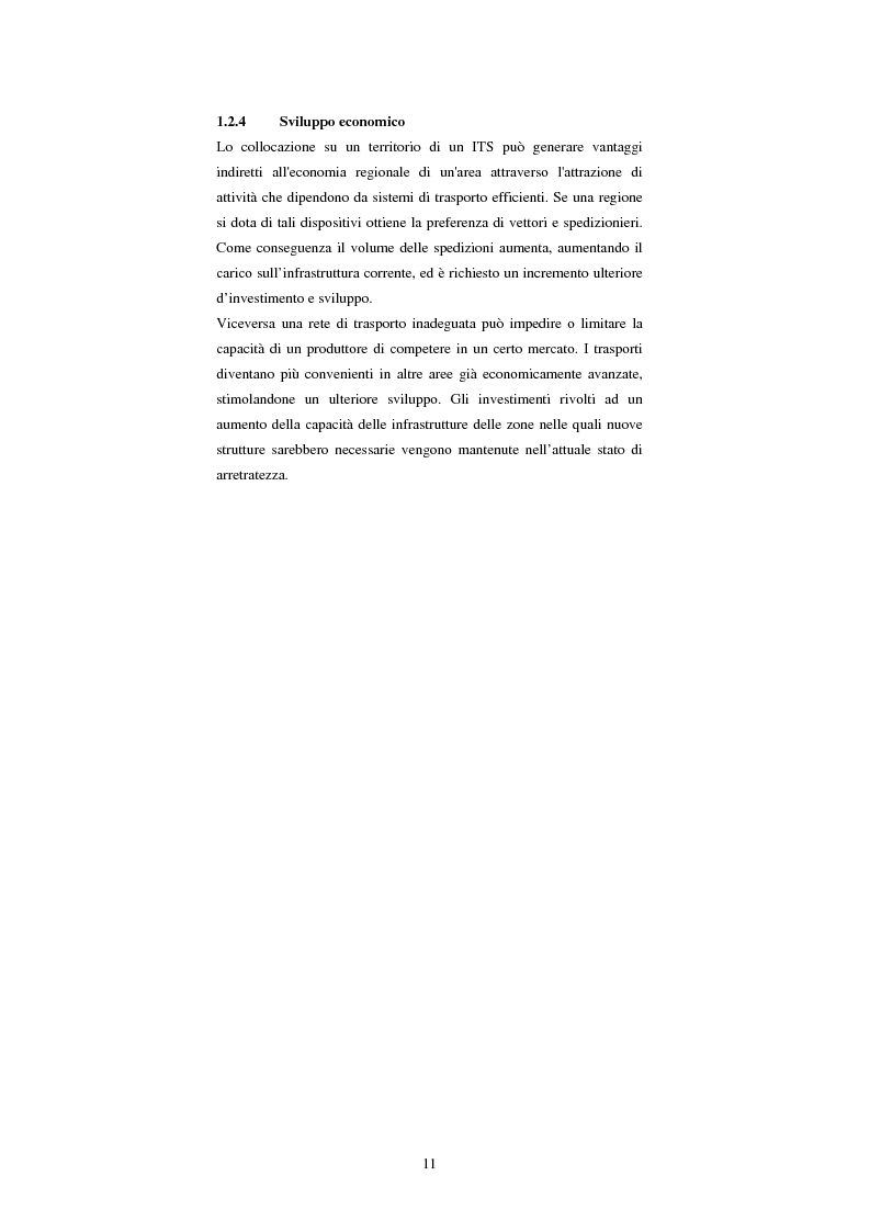 Anteprima della tesi: Sistemi di trasporto intelligenti: tecnologie trasmissive e servizi disponibili, Pagina 11