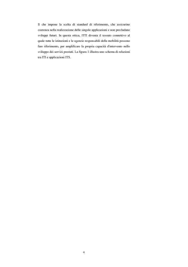Anteprima della tesi: Sistemi di trasporto intelligenti: tecnologie trasmissive e servizi disponibili, Pagina 4