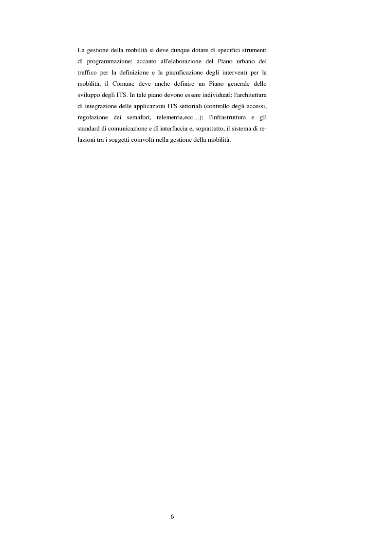 Anteprima della tesi: Sistemi di trasporto intelligenti: tecnologie trasmissive e servizi disponibili, Pagina 6