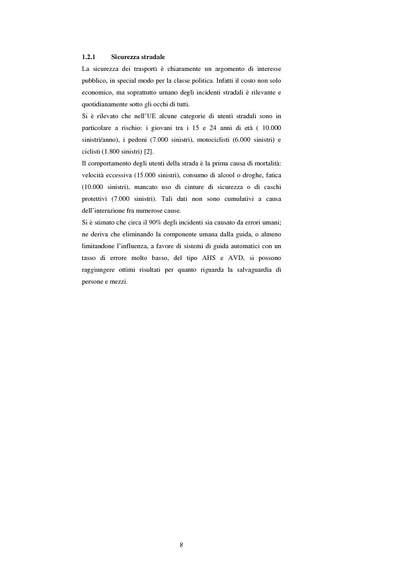 Anteprima della tesi: Sistemi di trasporto intelligenti: tecnologie trasmissive e servizi disponibili, Pagina 8