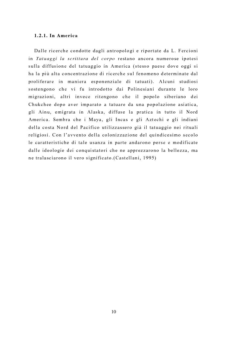 Anteprima della tesi: Il tatuaggio: una ricerca psicometrica della personalità e della motivazione, Pagina 8