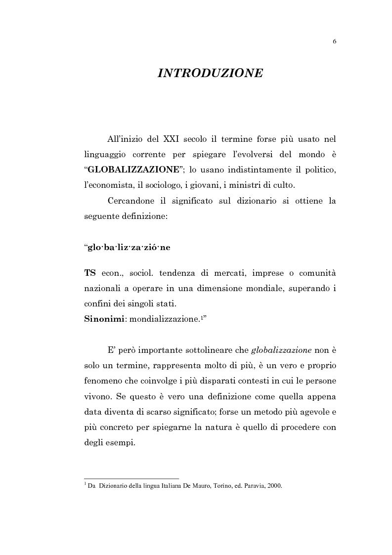 Anteprima della tesi: L'intervento pubblico nazionale e sovranazionale e la globalizzazione: per lo sviluppo e la lotta alla povertà, Pagina 1