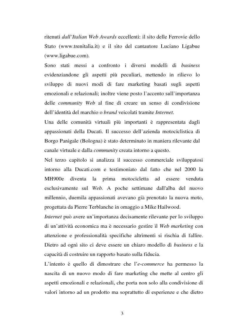 Anteprima della tesi: Comportamento d'acquisto e mondo virtuale: nuovi modelli di business e case studies di e-commerce, Pagina 3