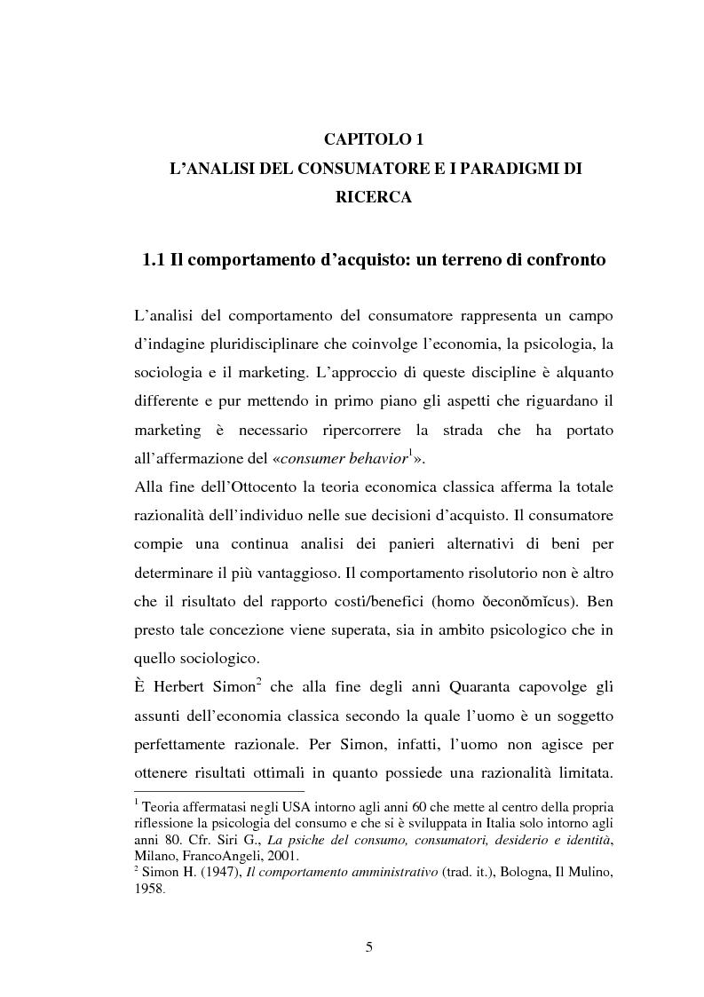 Anteprima della tesi: Comportamento d'acquisto e mondo virtuale: nuovi modelli di business e case studies di e-commerce, Pagina 5