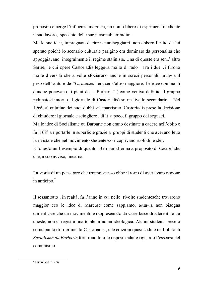 Anteprima della tesi: Cornelius Castoriadis ed il progetto dell'autonomia nell'epoca della globalizzazione, Pagina 6