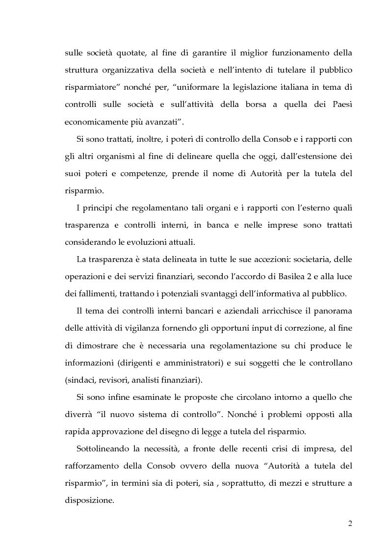 Anteprima della tesi: Il nuovo sistema dei controlli nel sistema finanziario, Pagina 2