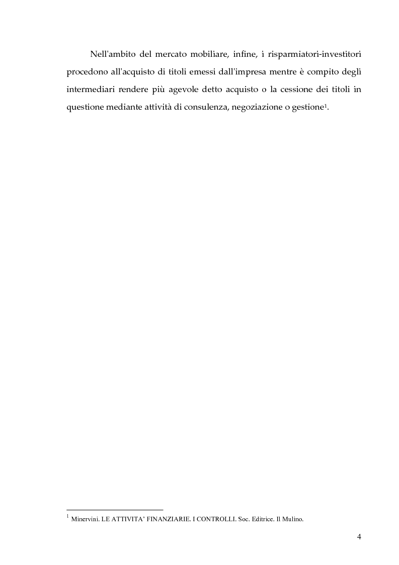 Anteprima della tesi: Il nuovo sistema dei controlli nel sistema finanziario, Pagina 4