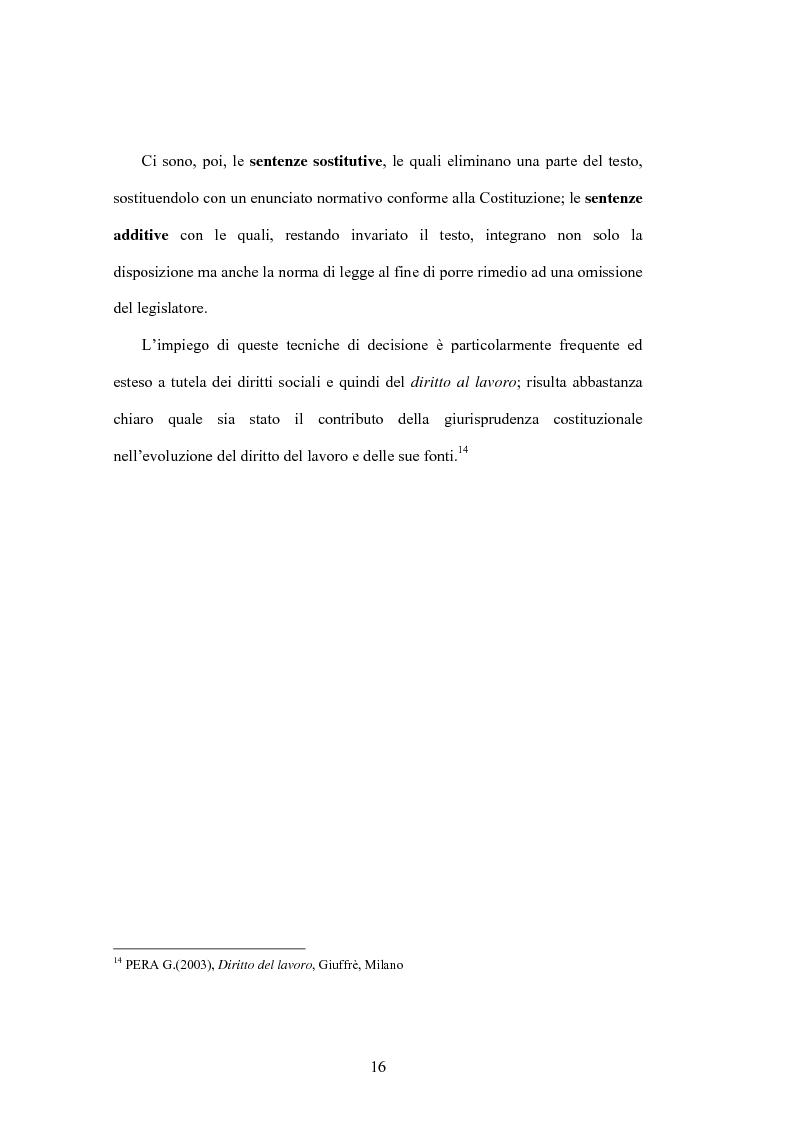 Anteprima della tesi: Il diritto al lavoro: dalla tutela nazionale a quella comunitaria ed internazionale, Pagina 14