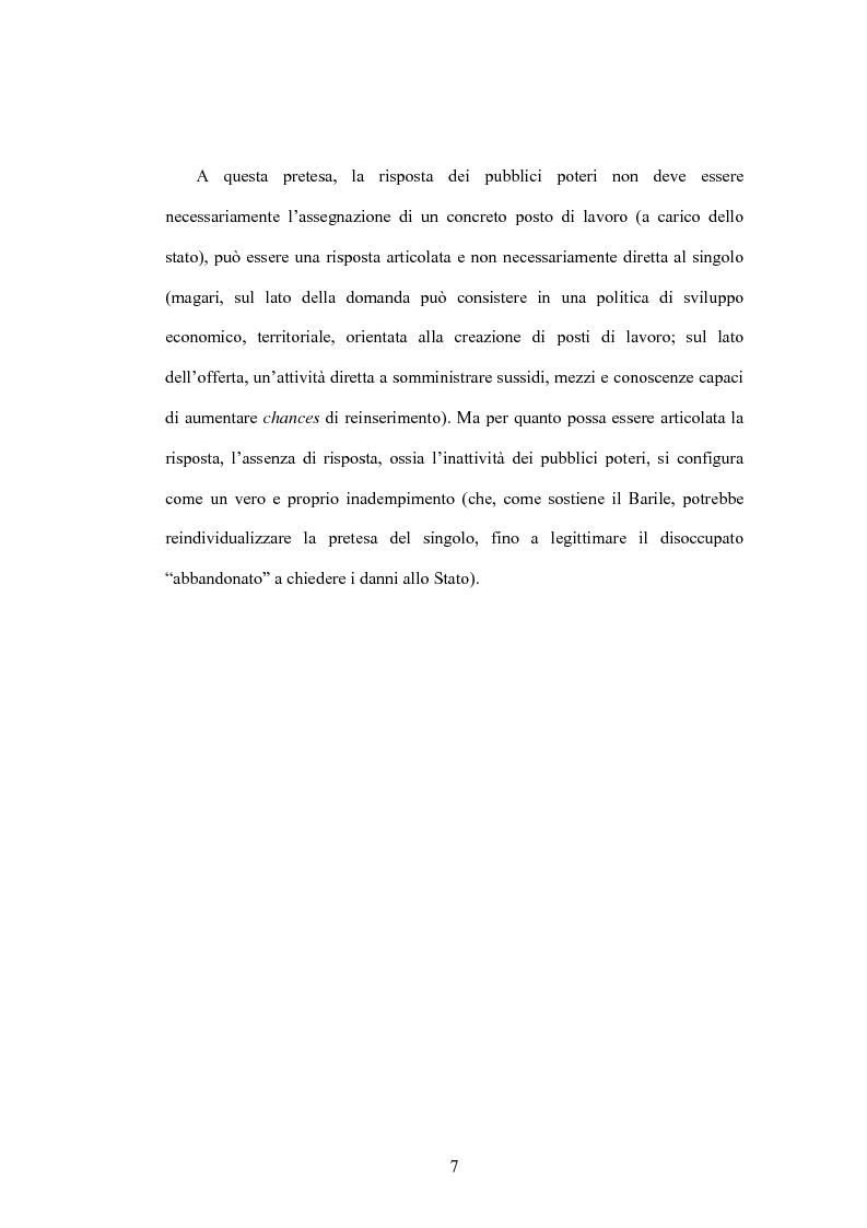Anteprima della tesi: Il diritto al lavoro: dalla tutela nazionale a quella comunitaria ed internazionale, Pagina 5
